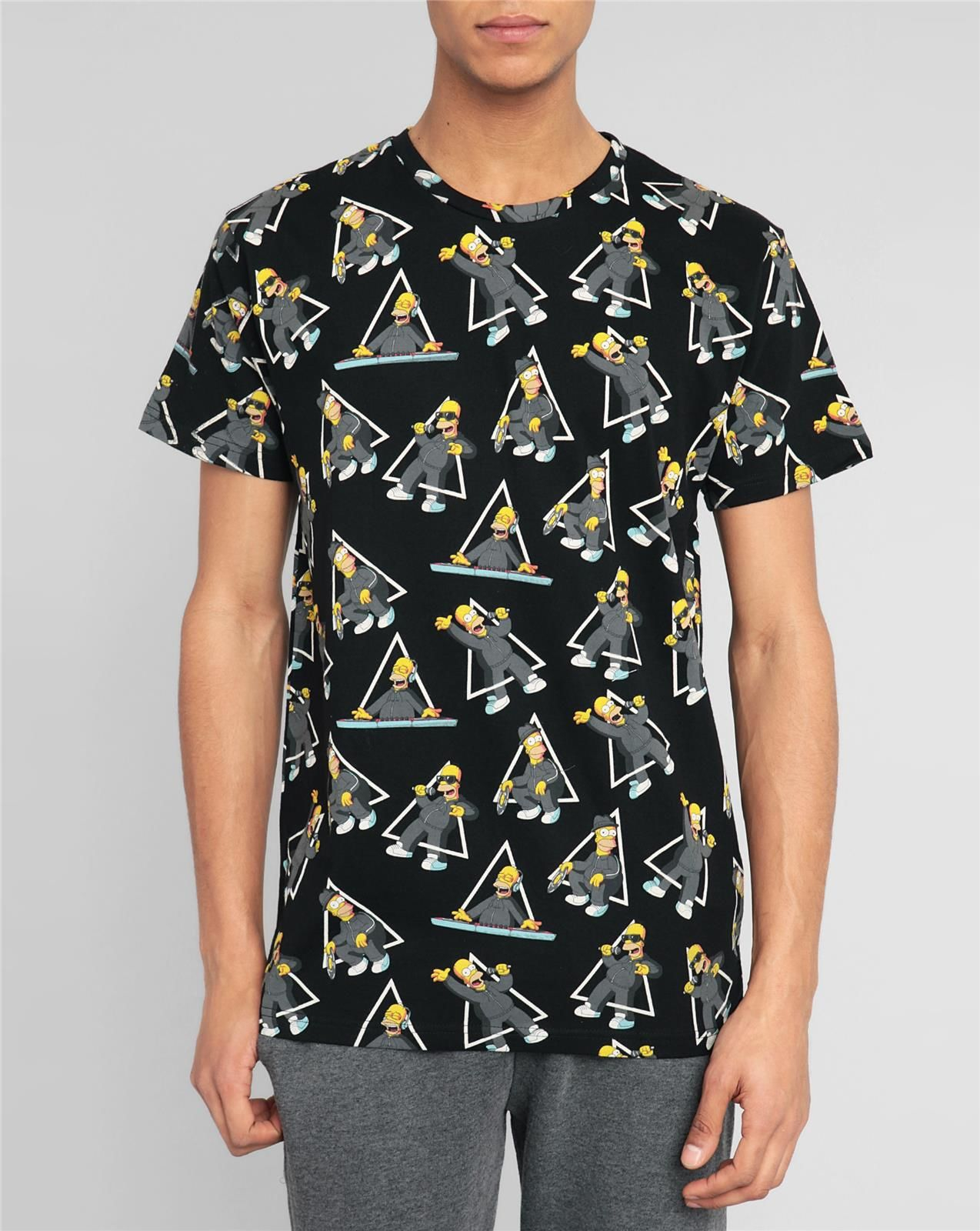 eleven paris black homer print t shirt in black for men lyst. Black Bedroom Furniture Sets. Home Design Ideas