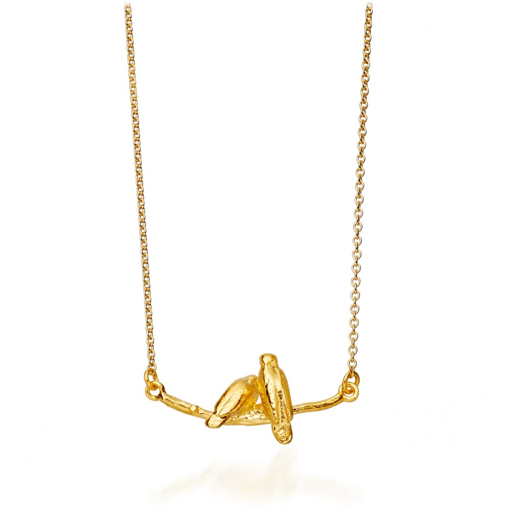 htm and necklace gold bird p sterling silver vermeil love kissing boma