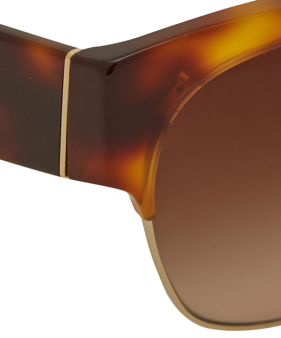 08ab533f82e free shipping lyst prada brown half frame sunglasses in brown ce3fe 8fb42