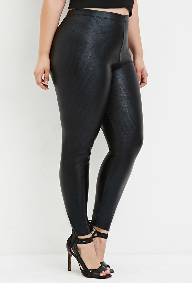 Faux Leather Plus Size Leggings
