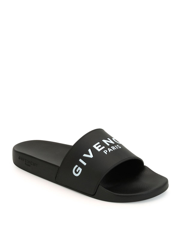 Givenchy Logo Print Rubber Slide Sandals In Black For Men Save 5