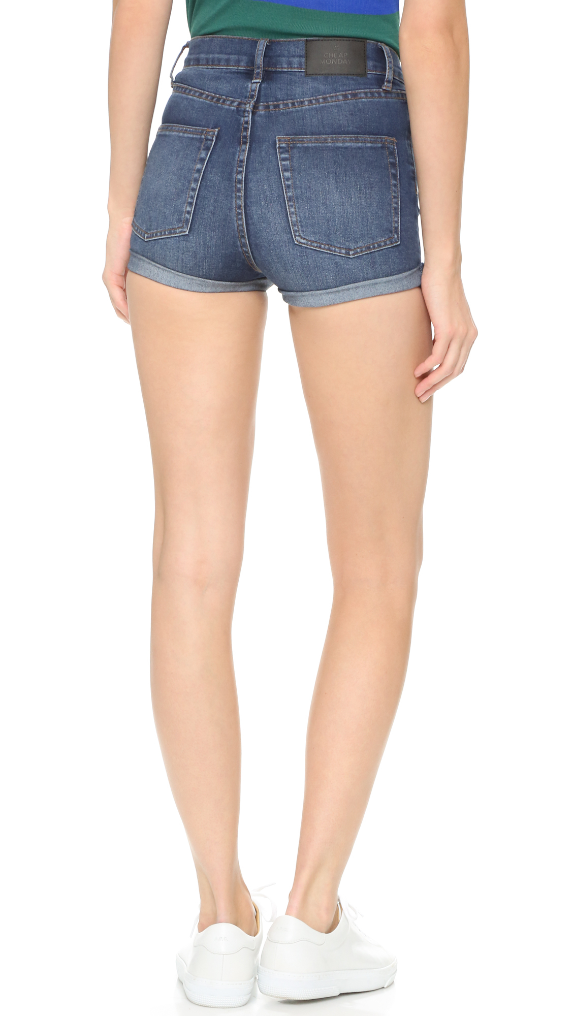 Cheap monday Denim Shorts in Blue   Lyst
