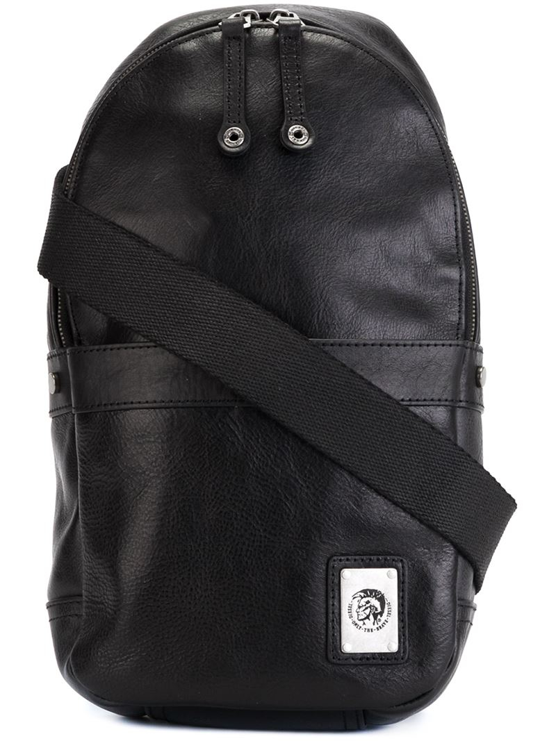Diesel Sling Backpack in Black for Men | Lyst