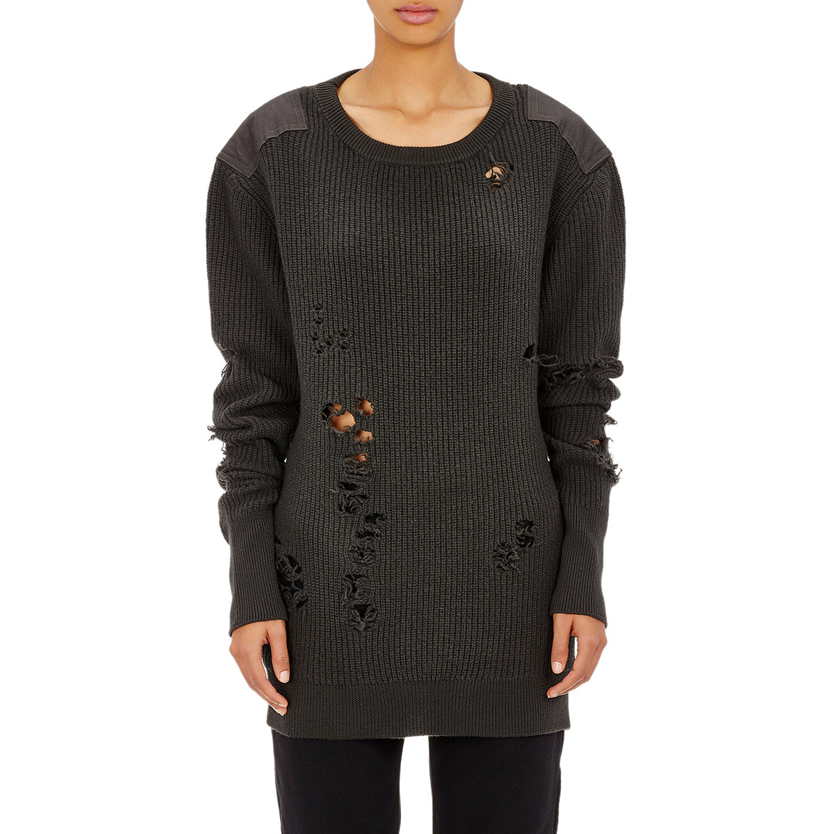 71d9ac2e92d62 Lyst - Yeezy Destroyed Sweater in Black