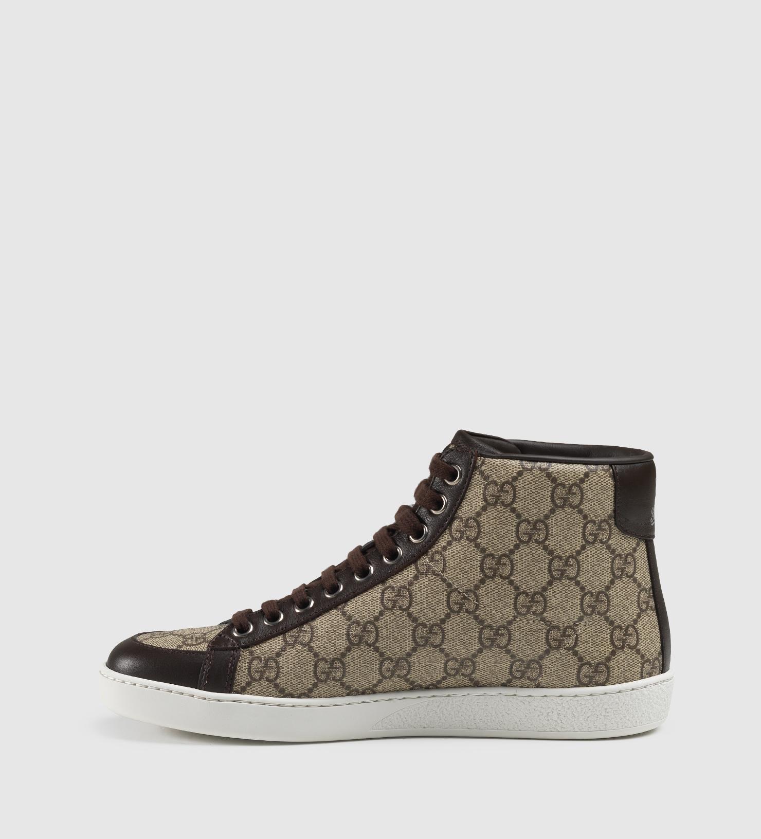 Gucci Brooklyn Gg Supreme Canvas High-top Sneaker in Black - Lyst acc90859d