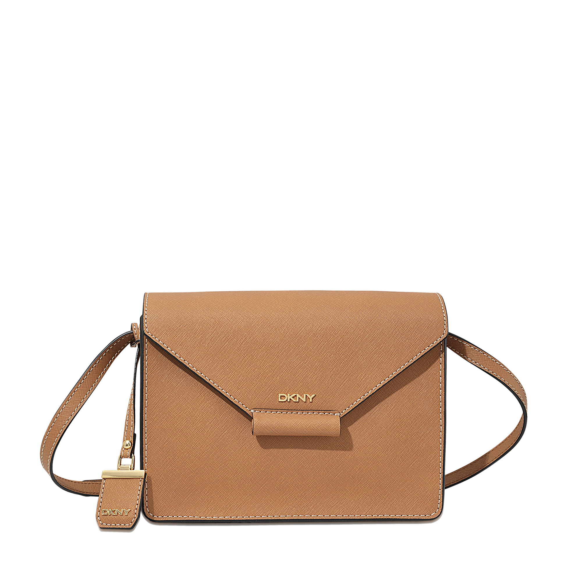 e698510baa ... online store 3fce8 f8b48 Lyst - Dkny Bryant Park Edge Flap Crossbody Bag  in Brown ...