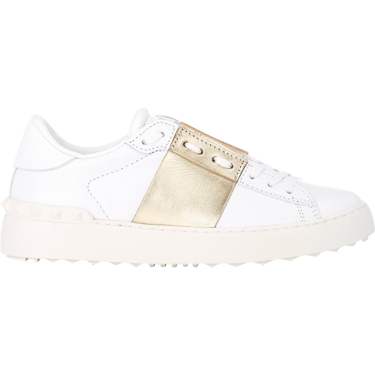Open Sneakers in White and Waterose Calf Valentino Great Deals Sale Online IKjhUkS