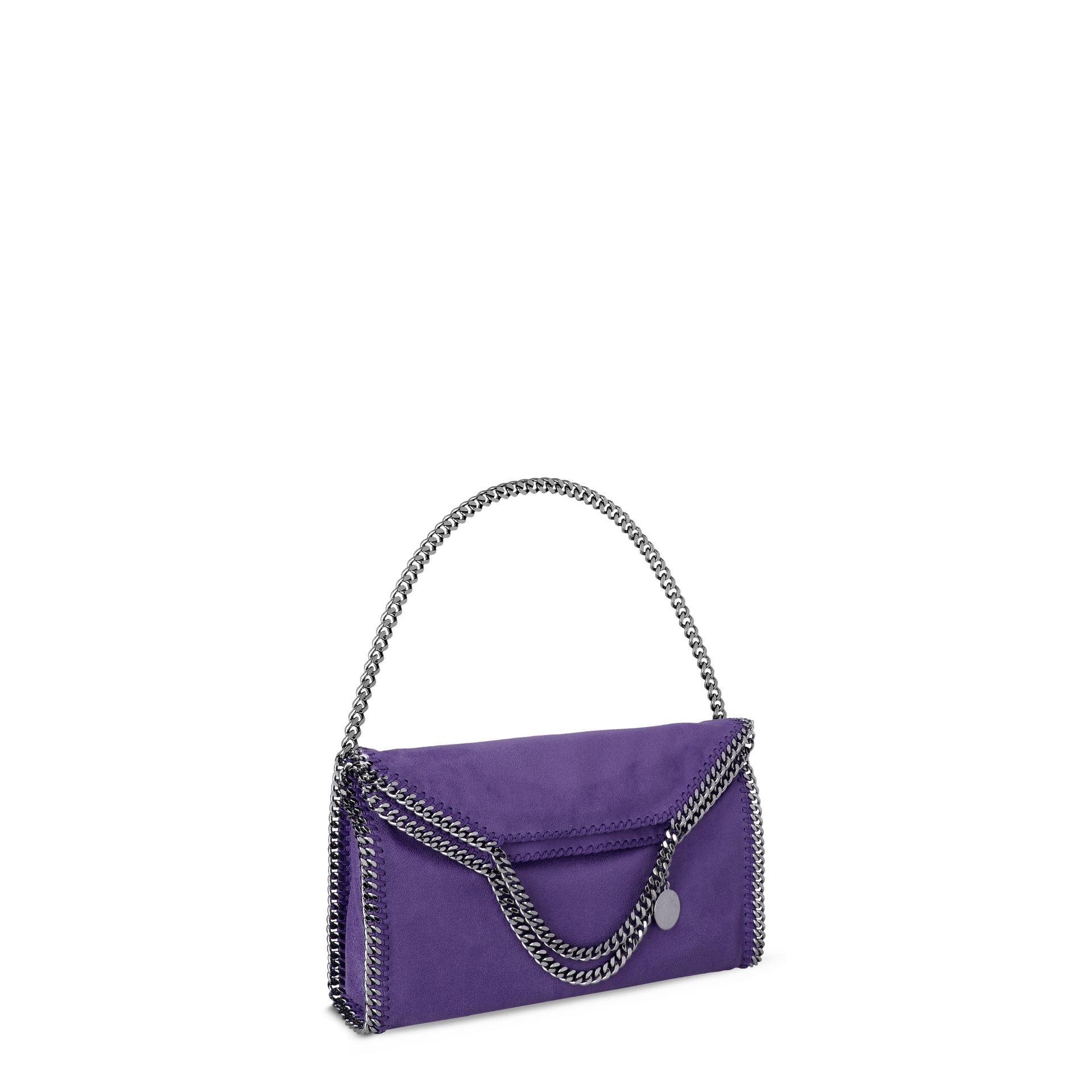 Lyst - Stella McCartney Bright Purple Falabella Shaggy Deer Fold ... 39a5fdc91cd8a