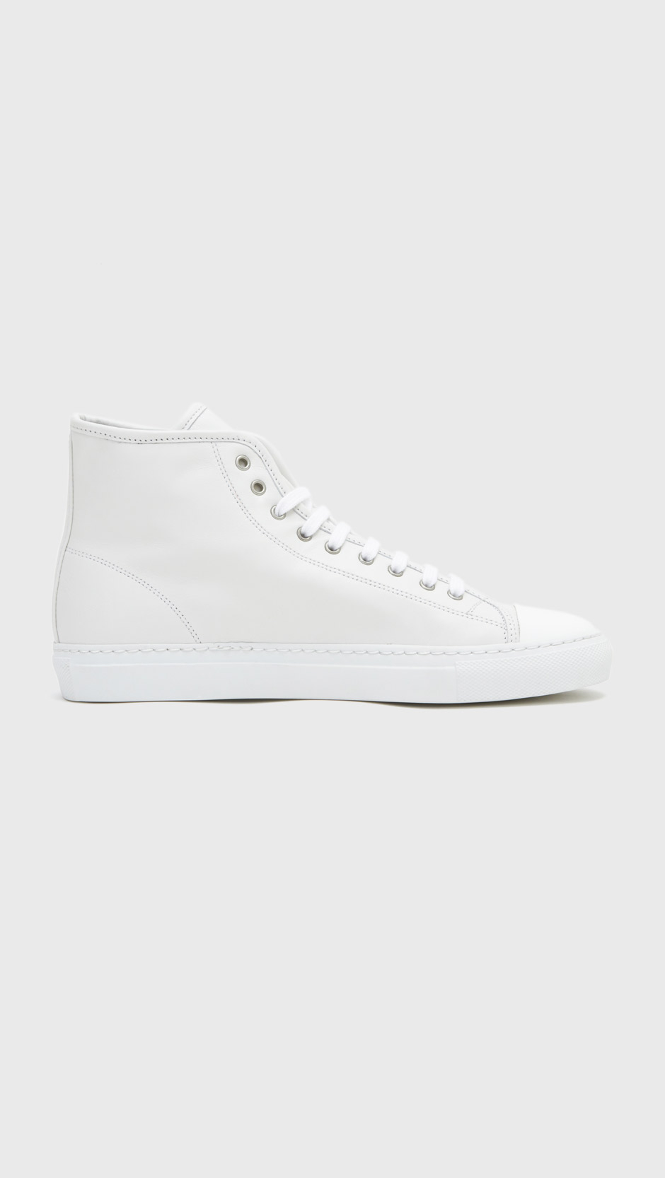 White Tournament High Cap Toe Sneakers Common Projects KxxsOG6