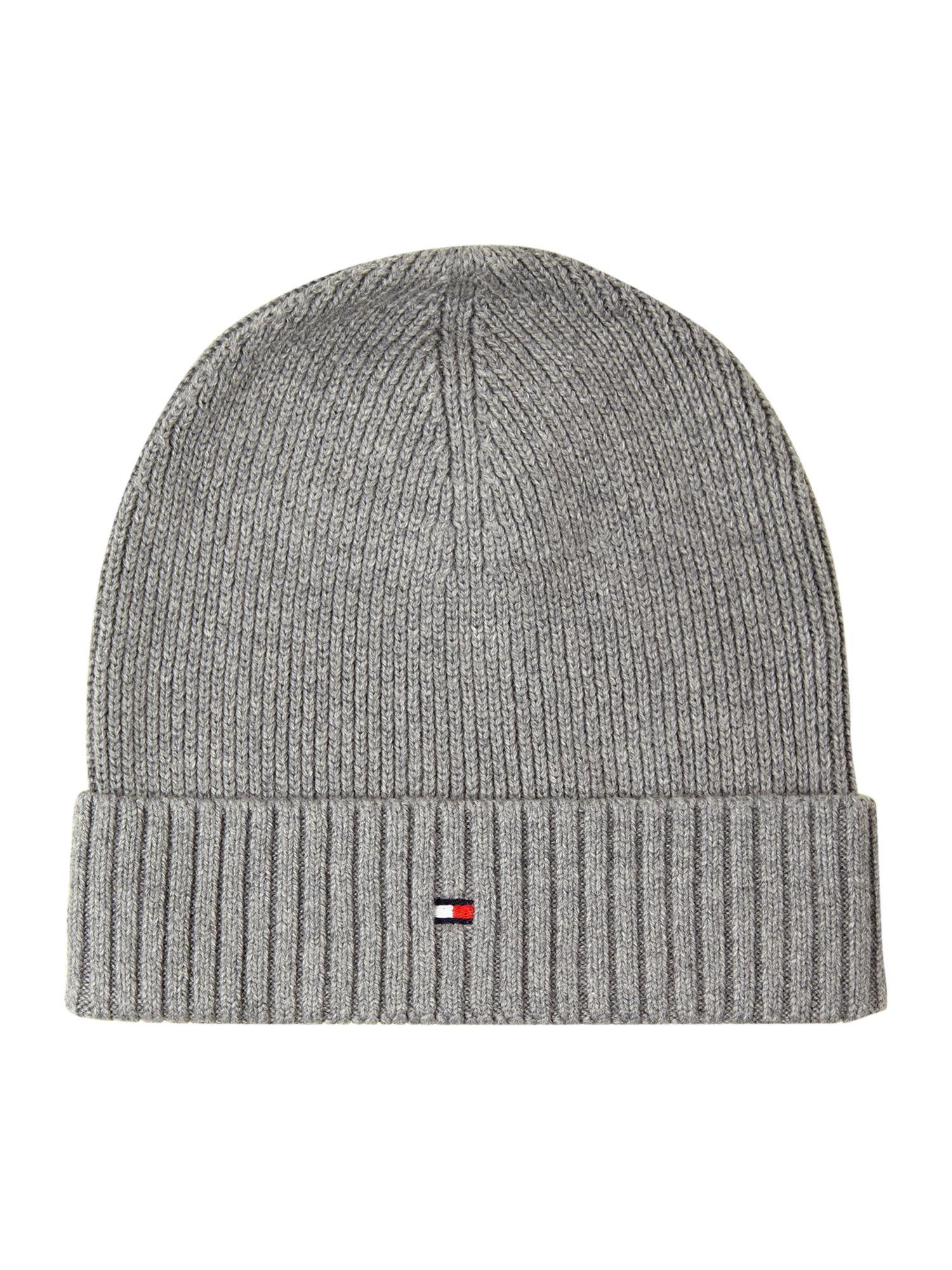 Lyst Tommy Hilfiger Cotton Cashmere Beanie Hat In Gray