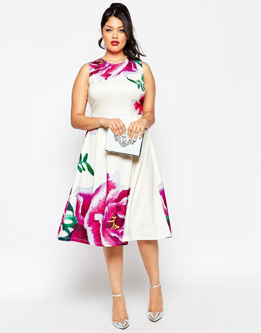 Vivienne Westwood Red Label Sequin Flower Print Corset Dress