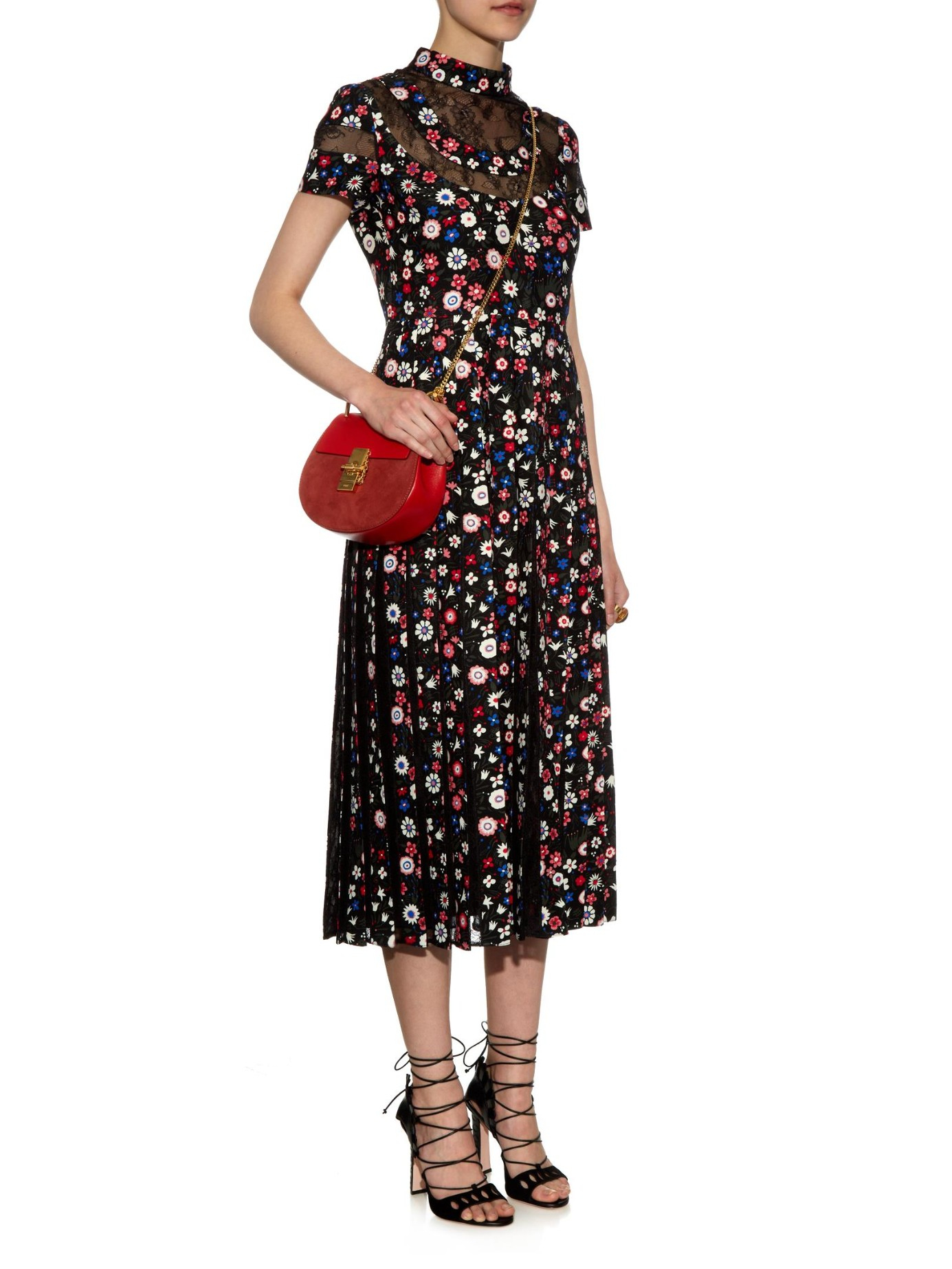 Chlo¨¦ Drew Cross-Body Bag in Red | Lyst