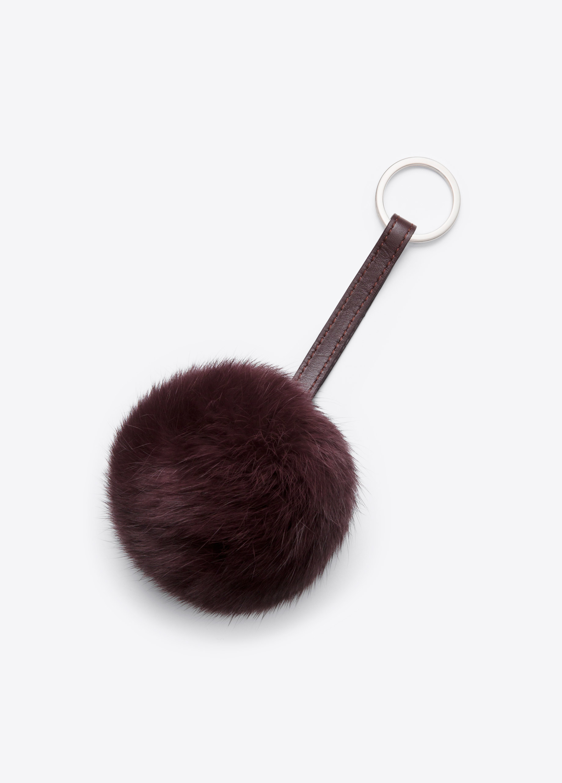 Lyst - Vince Rabbit Fur Pom Key Chain in Purple cd7a854fd