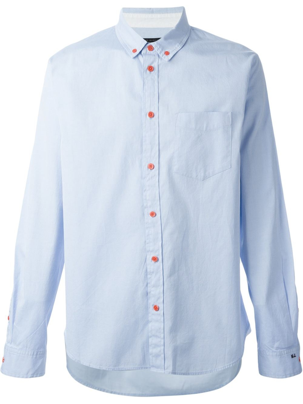 Marc by marc jacobs 39 oxford 39 shirt in blue for men lyst for Mens blue oxford shirt