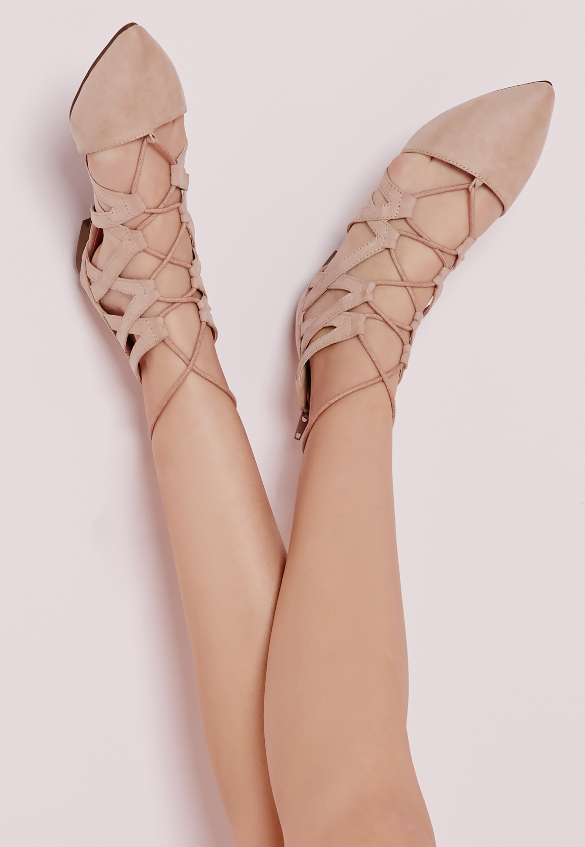 09fd5cebd23 Gallery. Women s Lace Up Flats Women s Nude Ballerina Pumps ...