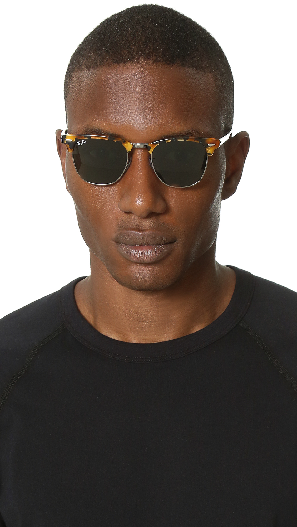 538ee7a644fd6 ... cheap lyst ray ban spotted clubmaster sunglasses in black for men 676c8  8b69c