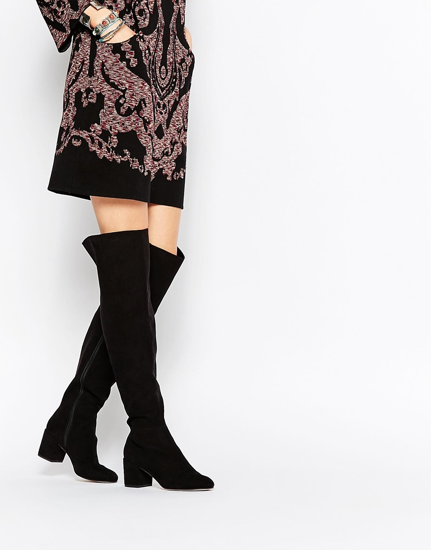 d93521ad240 Lyst - ASOS Kommotion Over The Knee Boots in Black