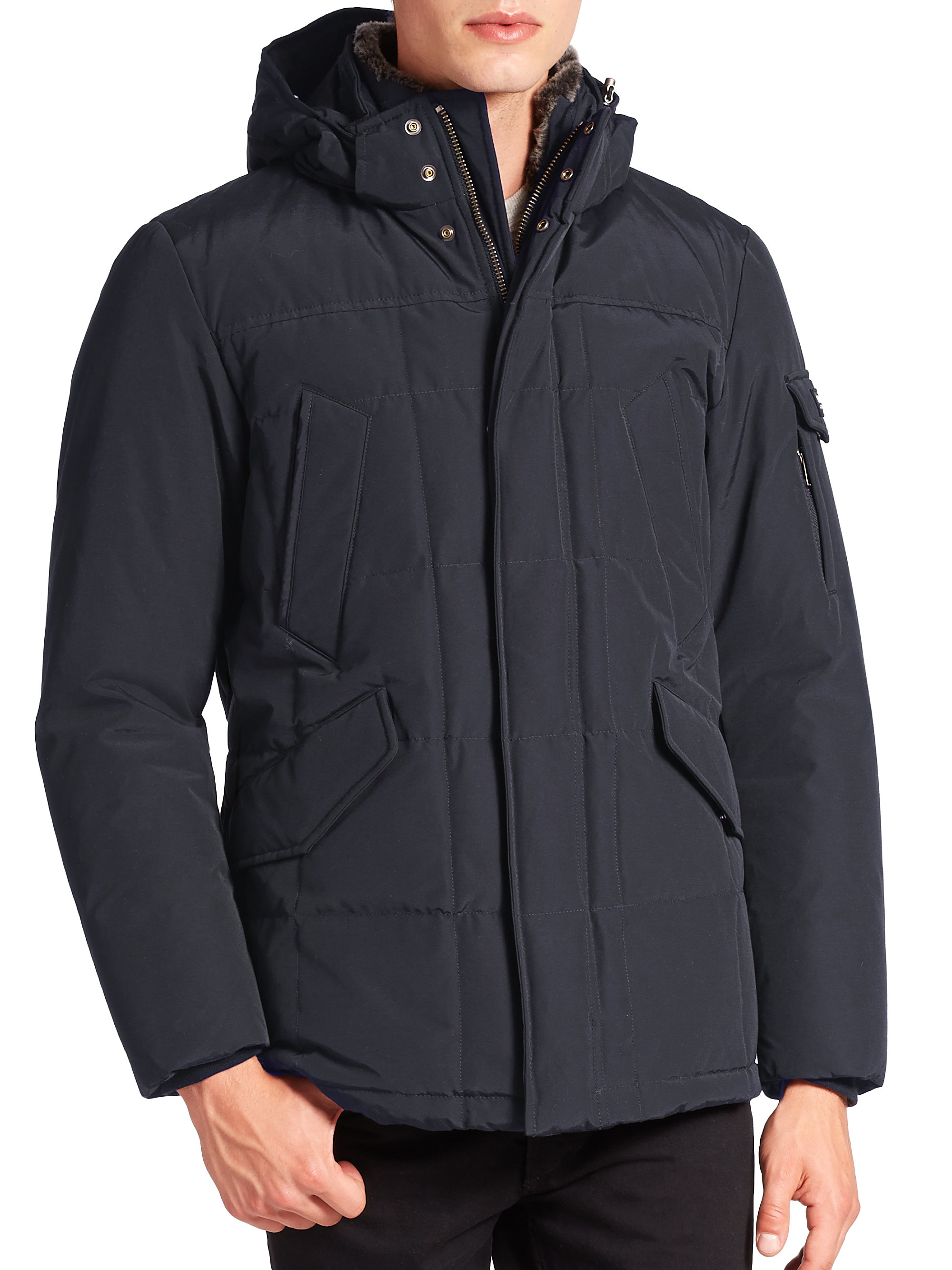 woolrich blizzard jacket in blue for men blue grey lyst. Black Bedroom Furniture Sets. Home Design Ideas