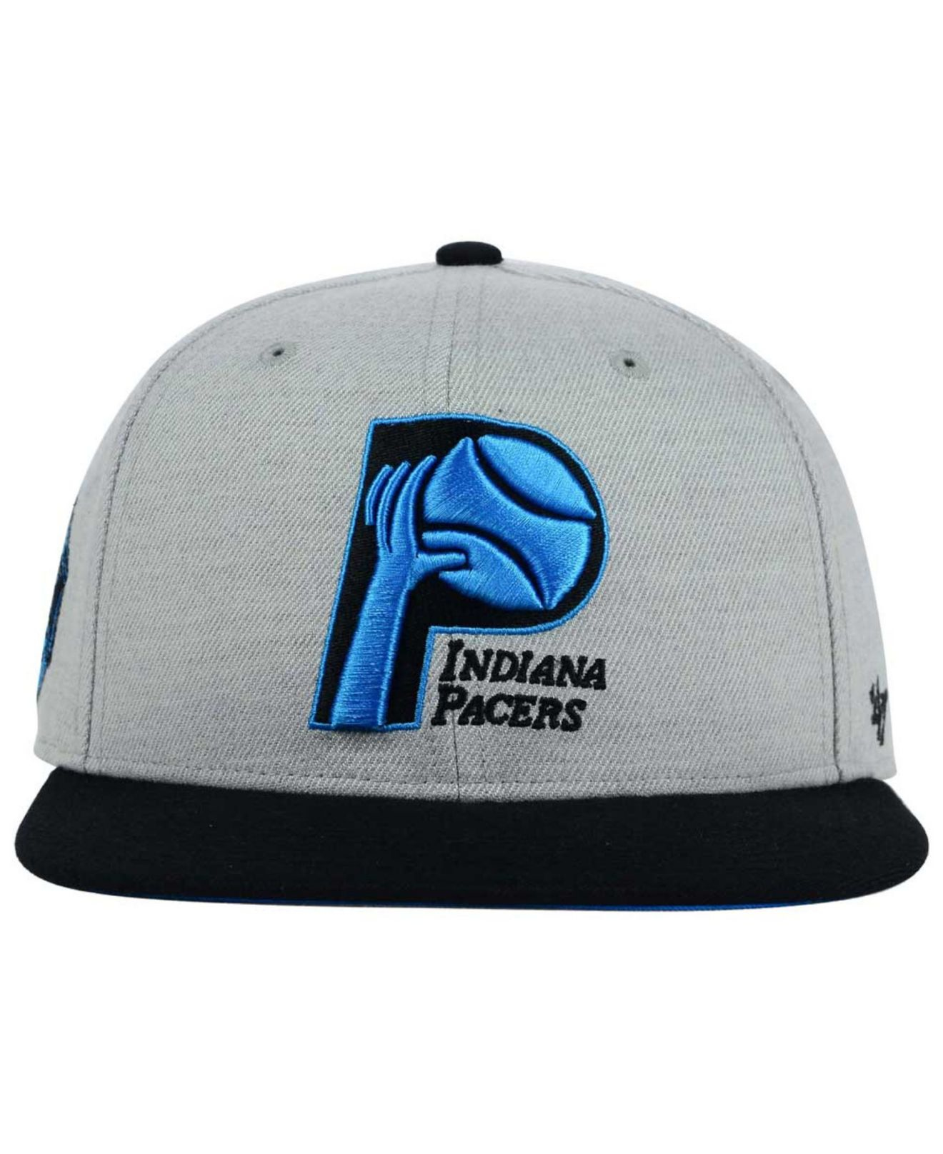 new products 7a263 2644f Lyst - 47 Brand Indiana Pacers Wrist Shot Snapback Cap in Gray for Men