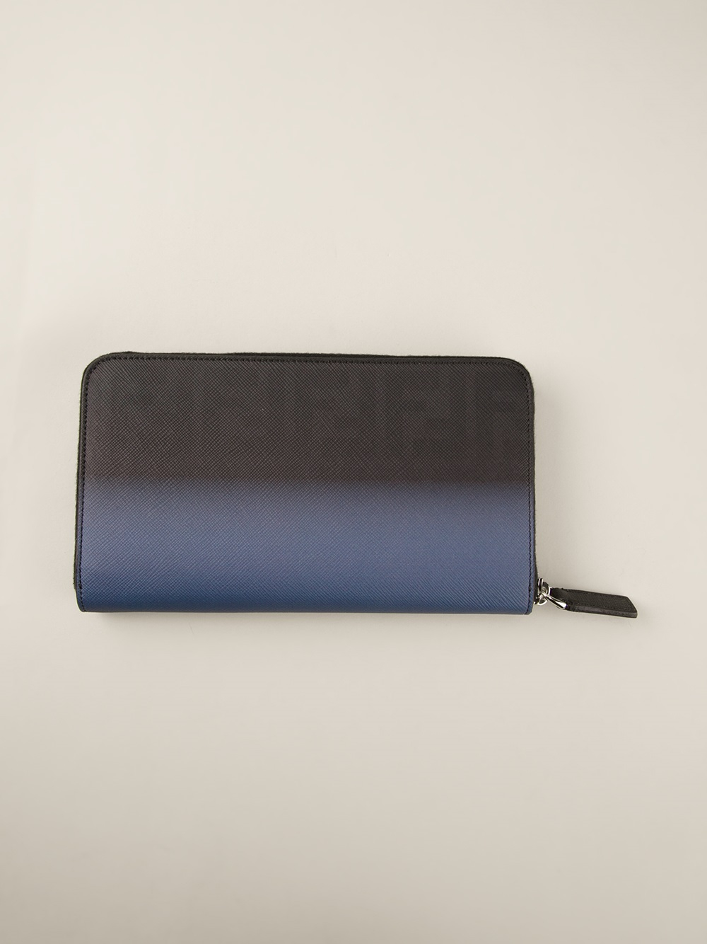 bd7bc44773c2 ... best price lyst fendi zip around long wallet in blue for men 5f7d3 60fcc