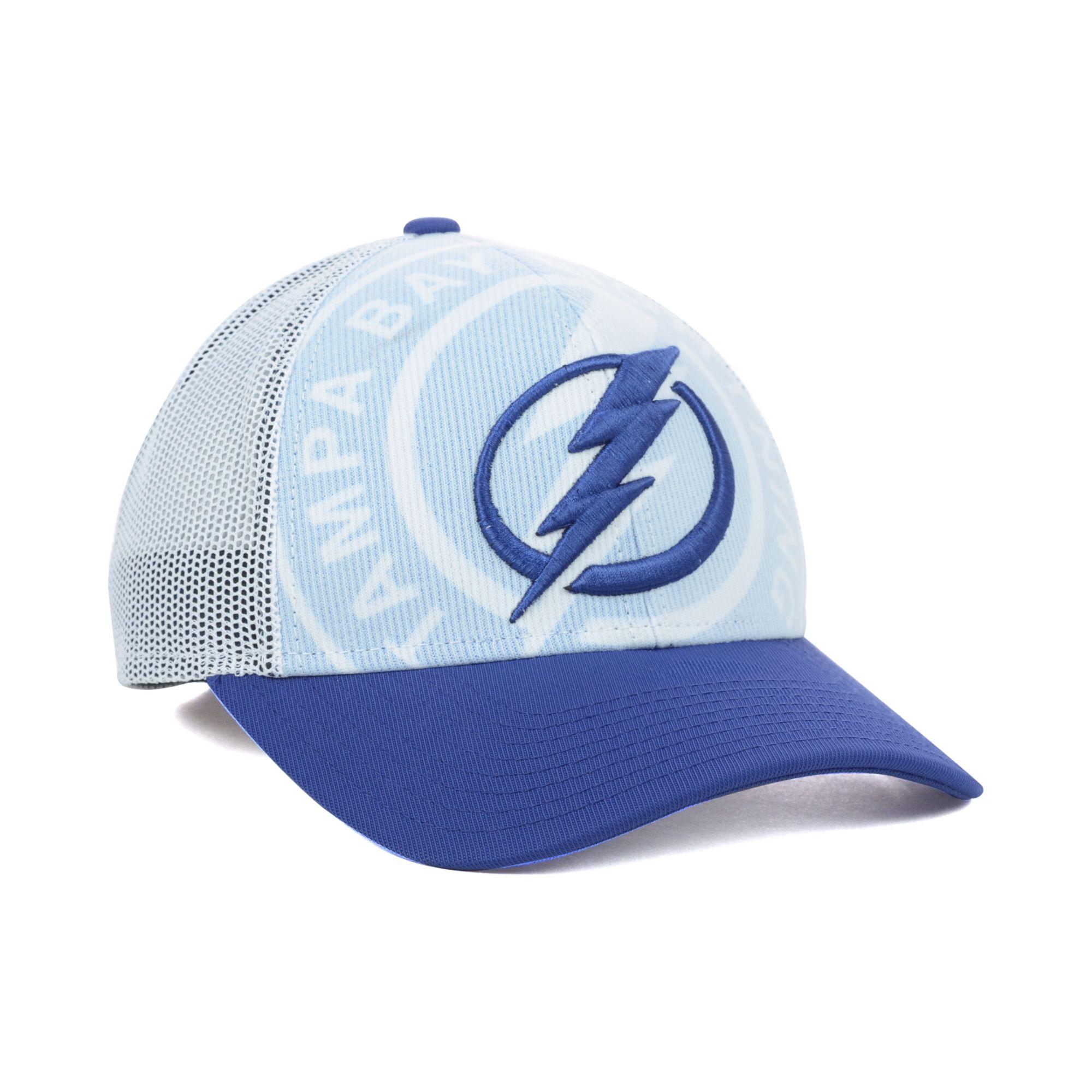 finest selection f0b7e d2e07 824b3 3e62b  where to buy lyst reebok tampa bay lightning nhl draft cap in  blue for men 94c10