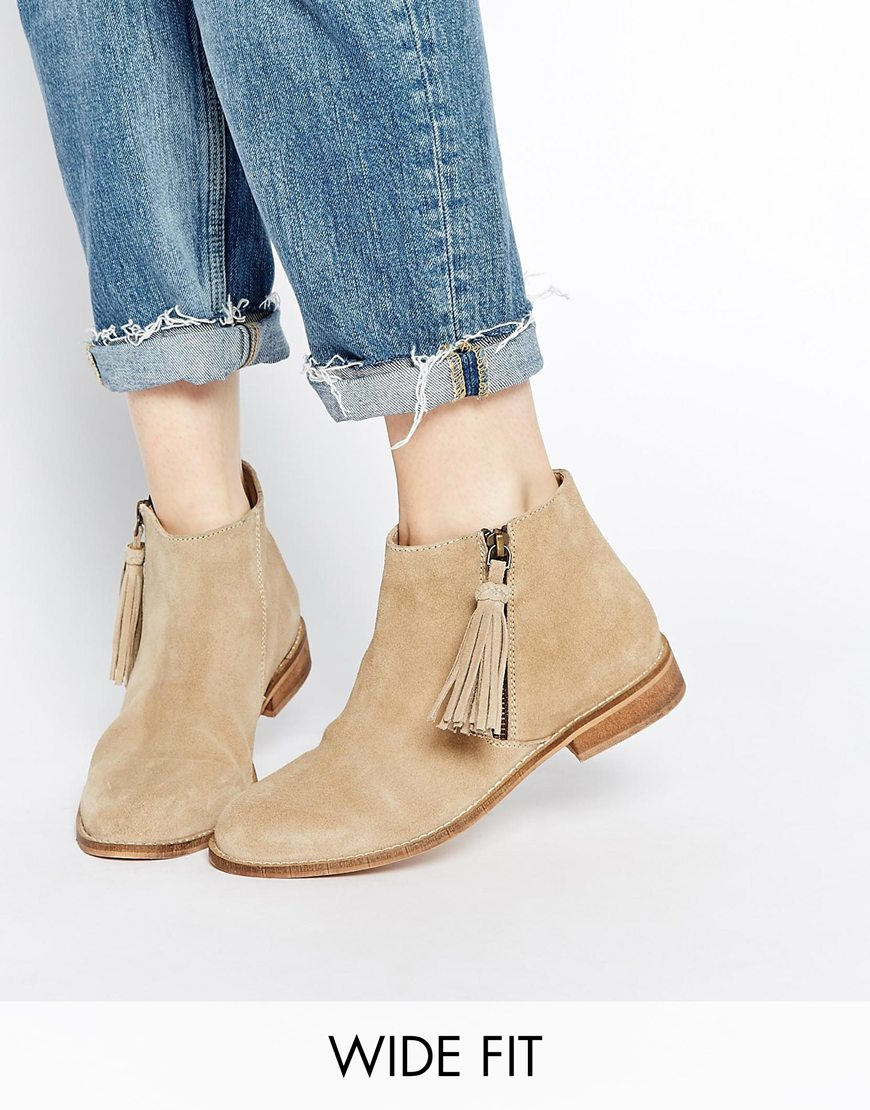 Buy Women Shoes / Asos Amelie Wide Fit Suede Ankle Boots