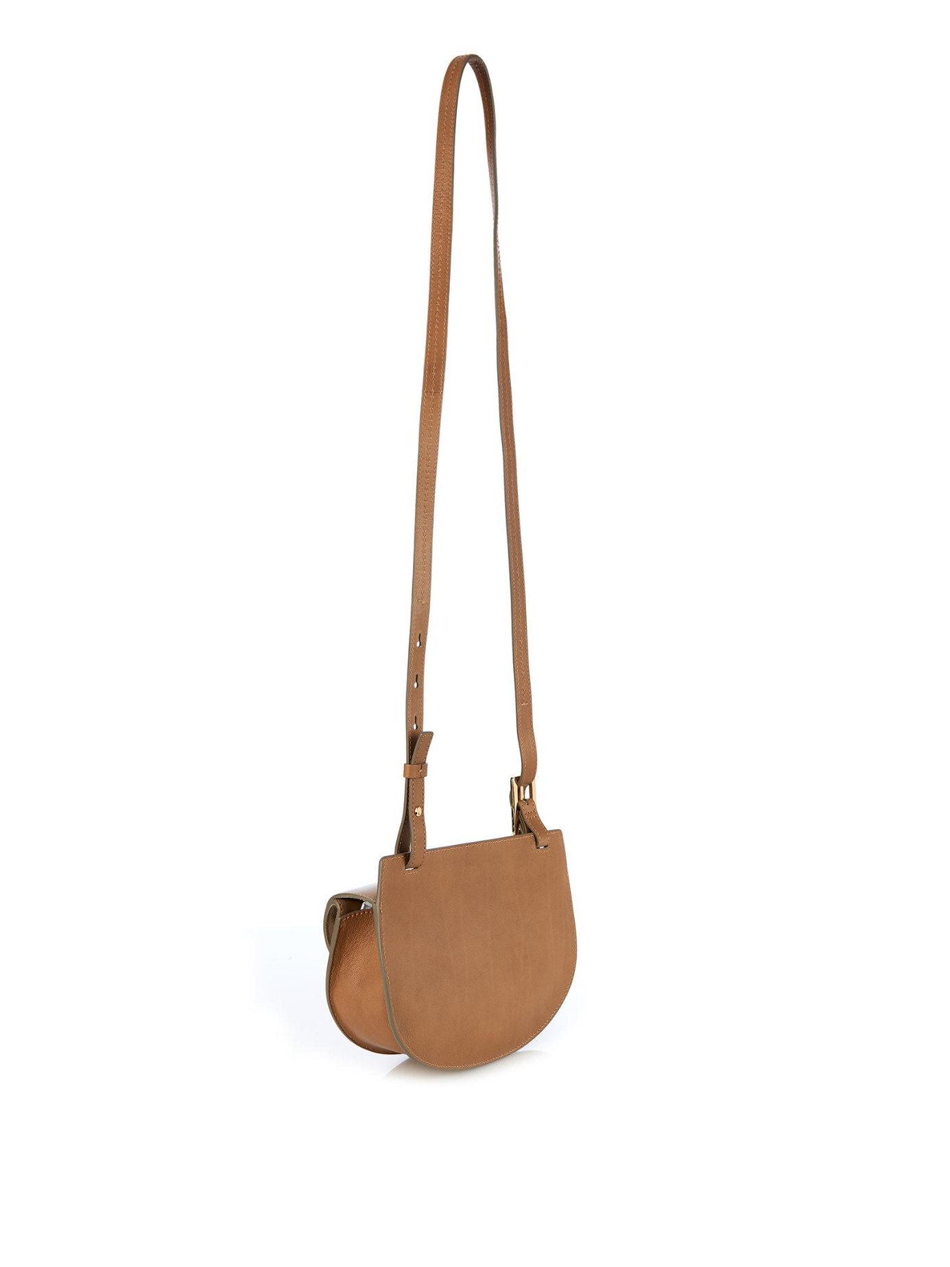 Chlo¨¦ Georgia Mini Leather Cross-Body Bag in Brown (DARK BEIGE) | Lyst