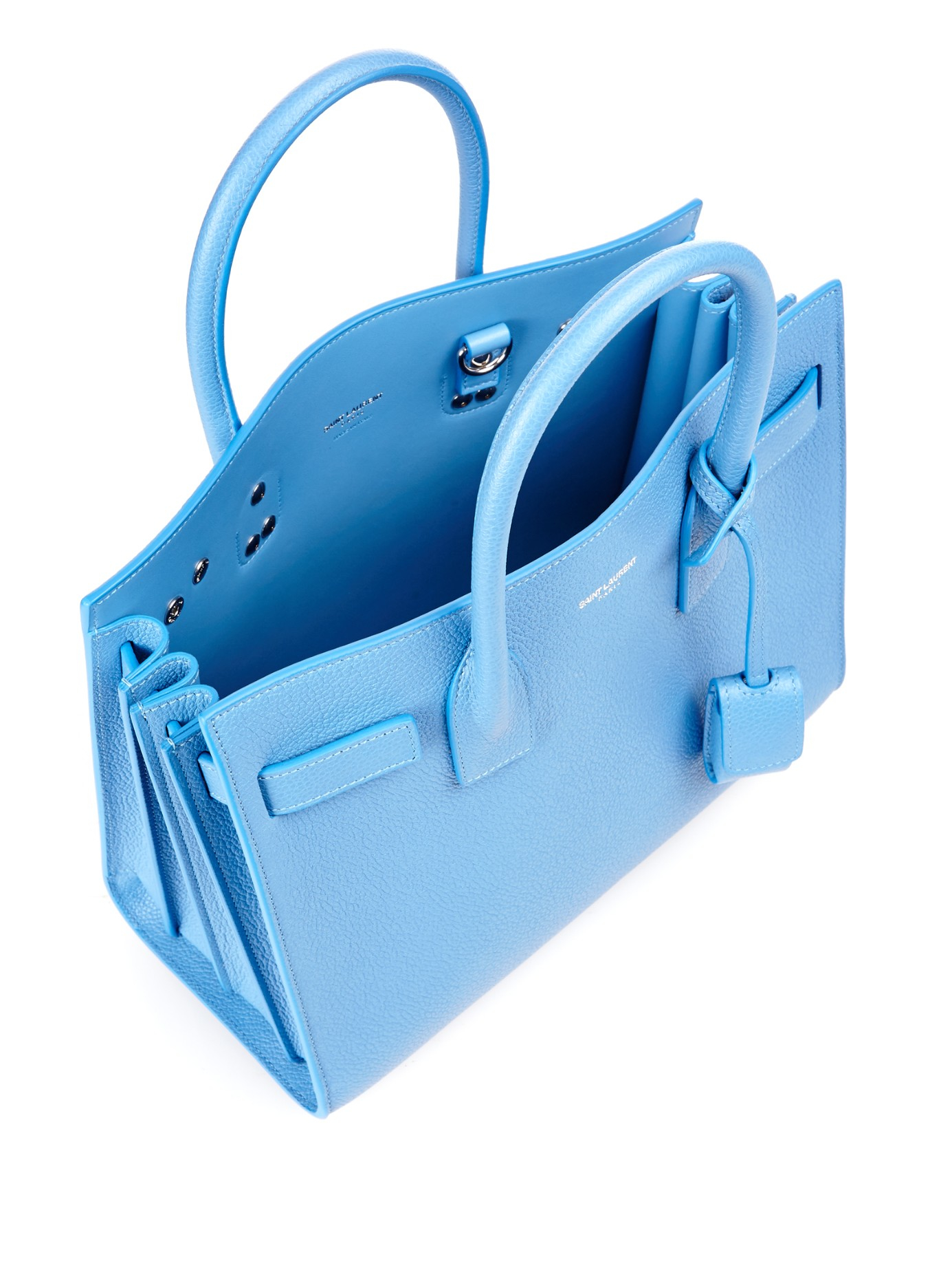 yves saint laurent bags prices - Saint laurent Sac De Jour Baby Leather Tote in Blue (LIGHT BLUE ...