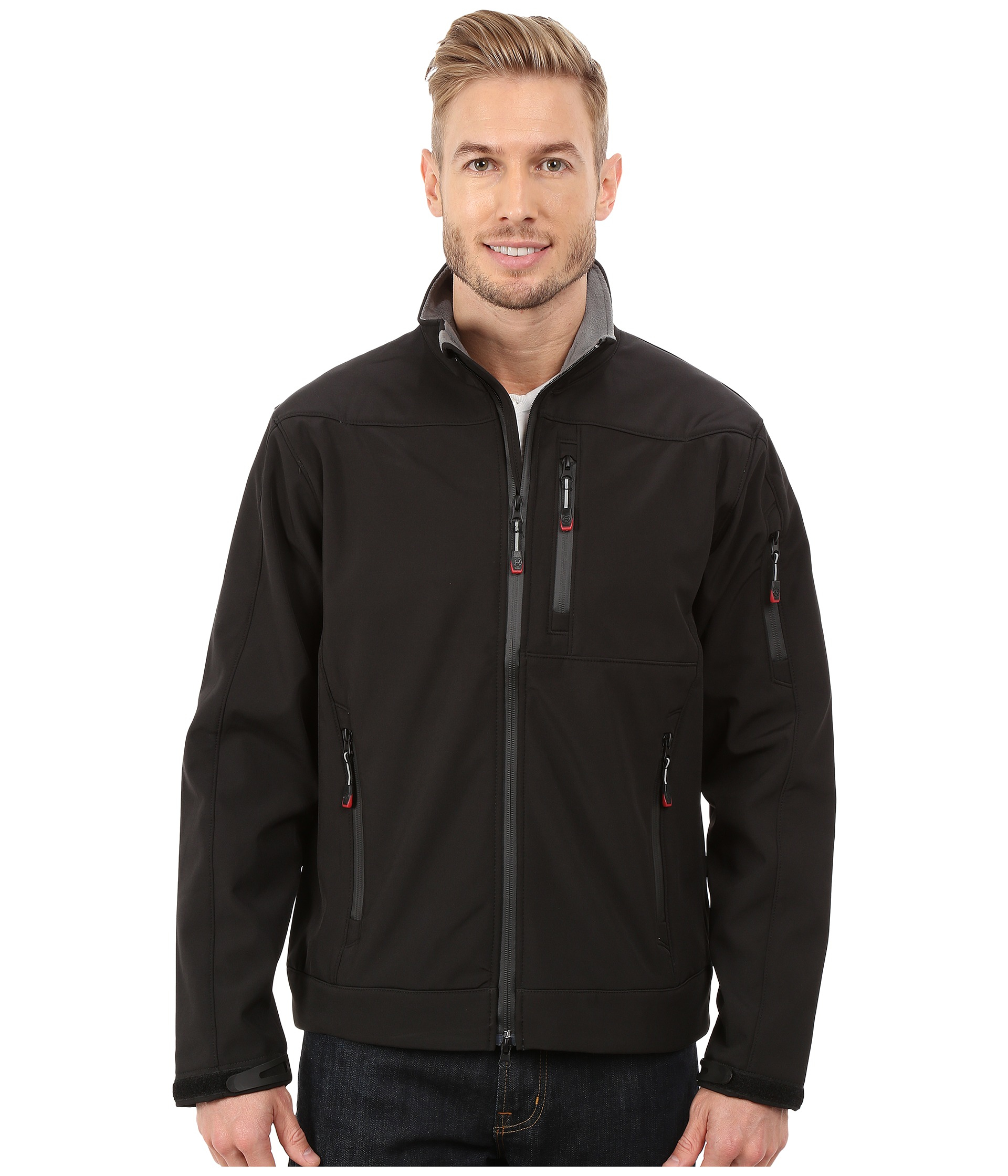 Roper Solid Black Softshell Jacket in Black for Men | Lyst