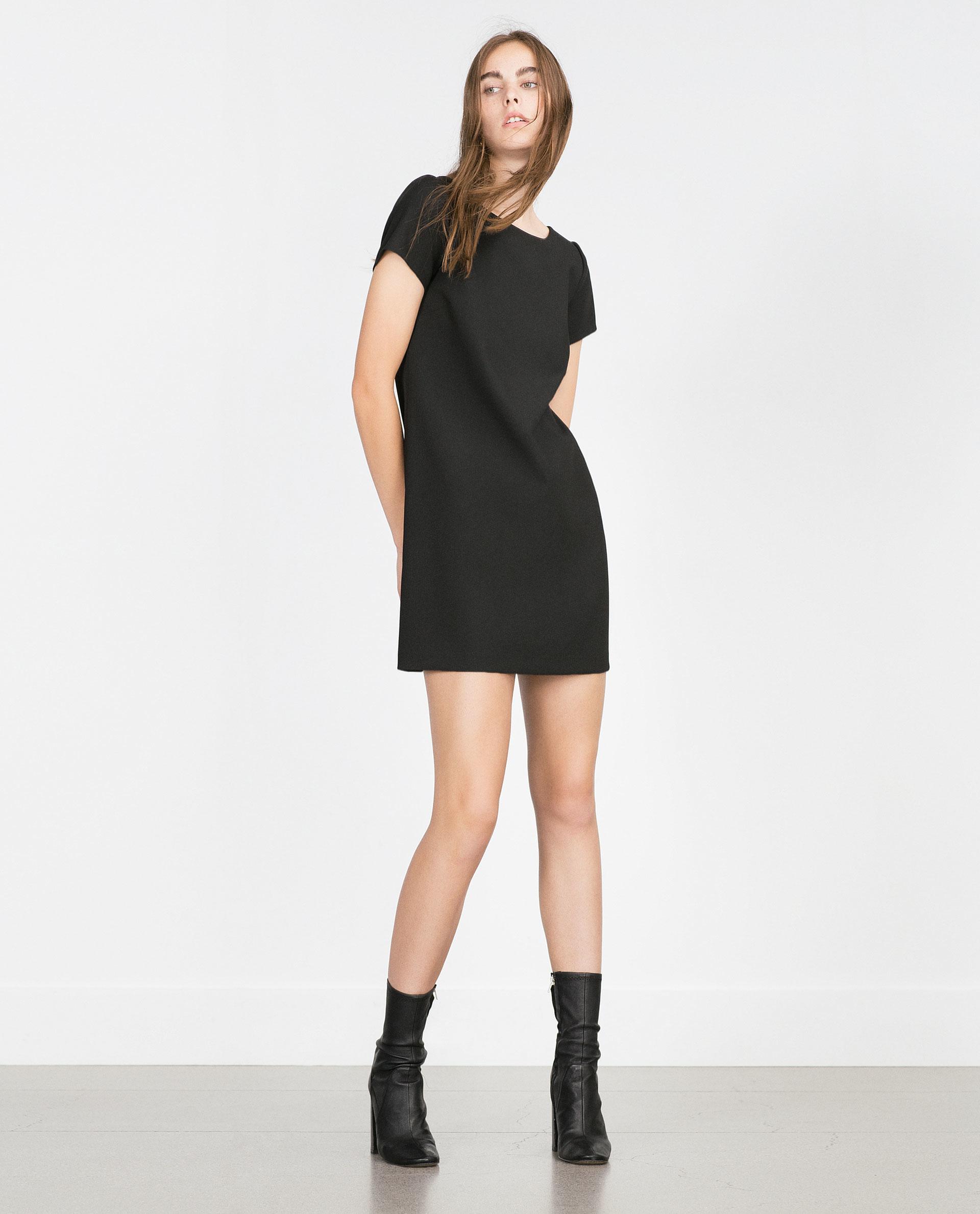 Zara A-line Dress in Black   Lyst