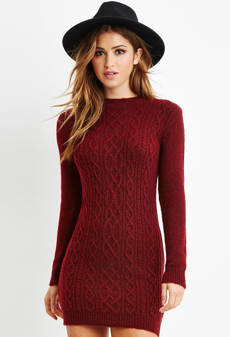 Forever 21 Cable Knit Sweater Dress You've Been Added To The ...