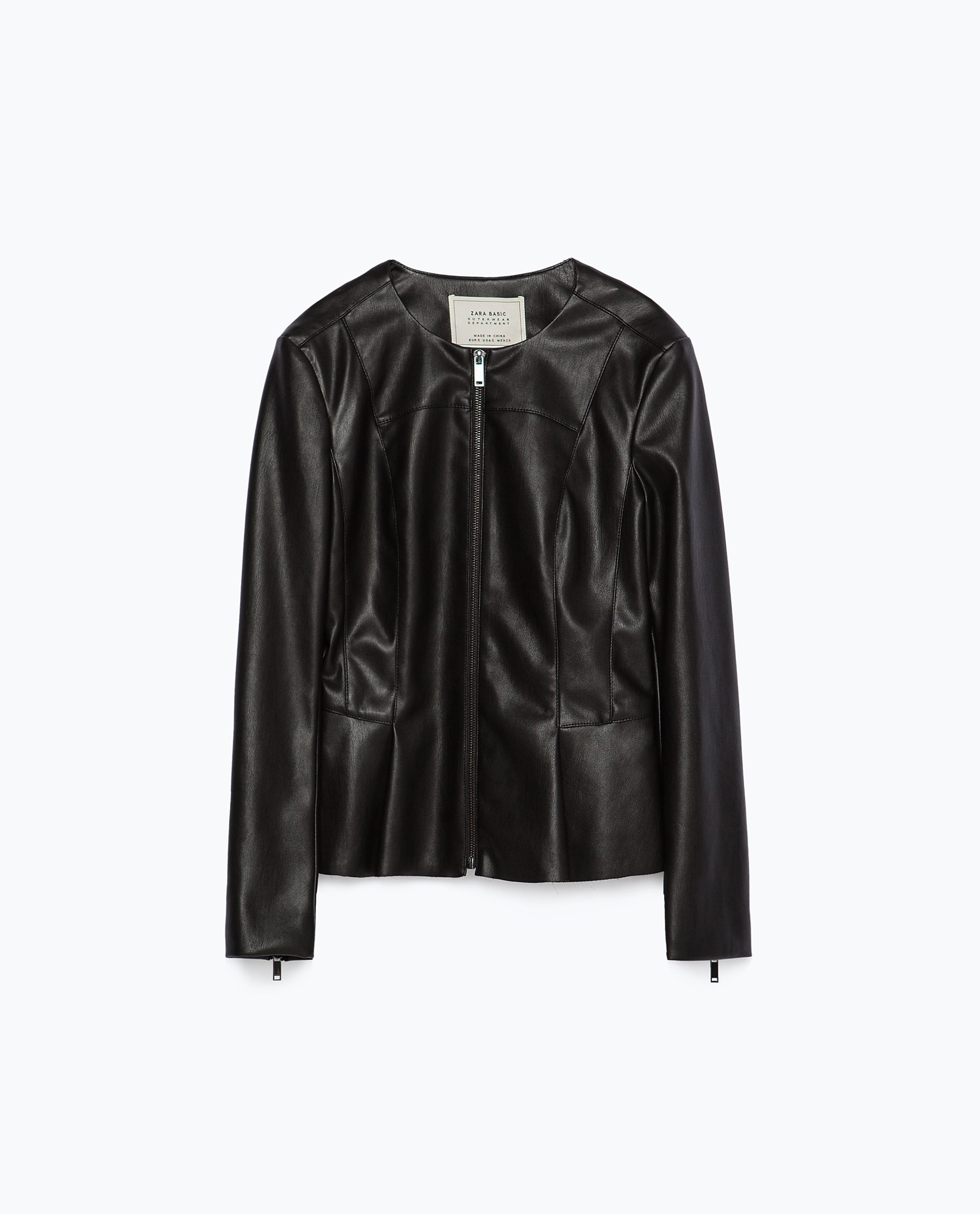 Zara black leather jacket