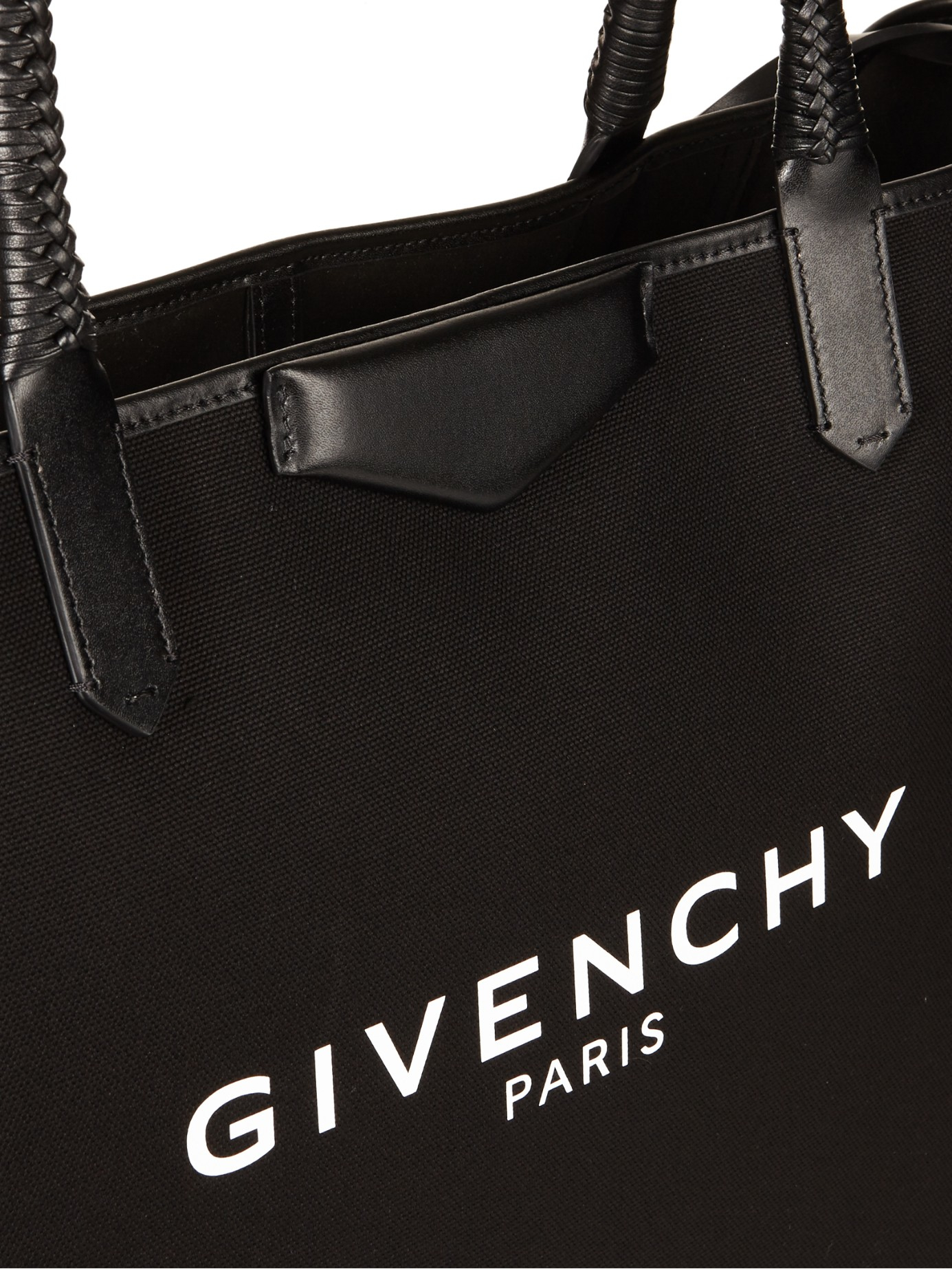 46d097acd2 Givenchy Antigona Large Canvas Tote in Black - Lyst