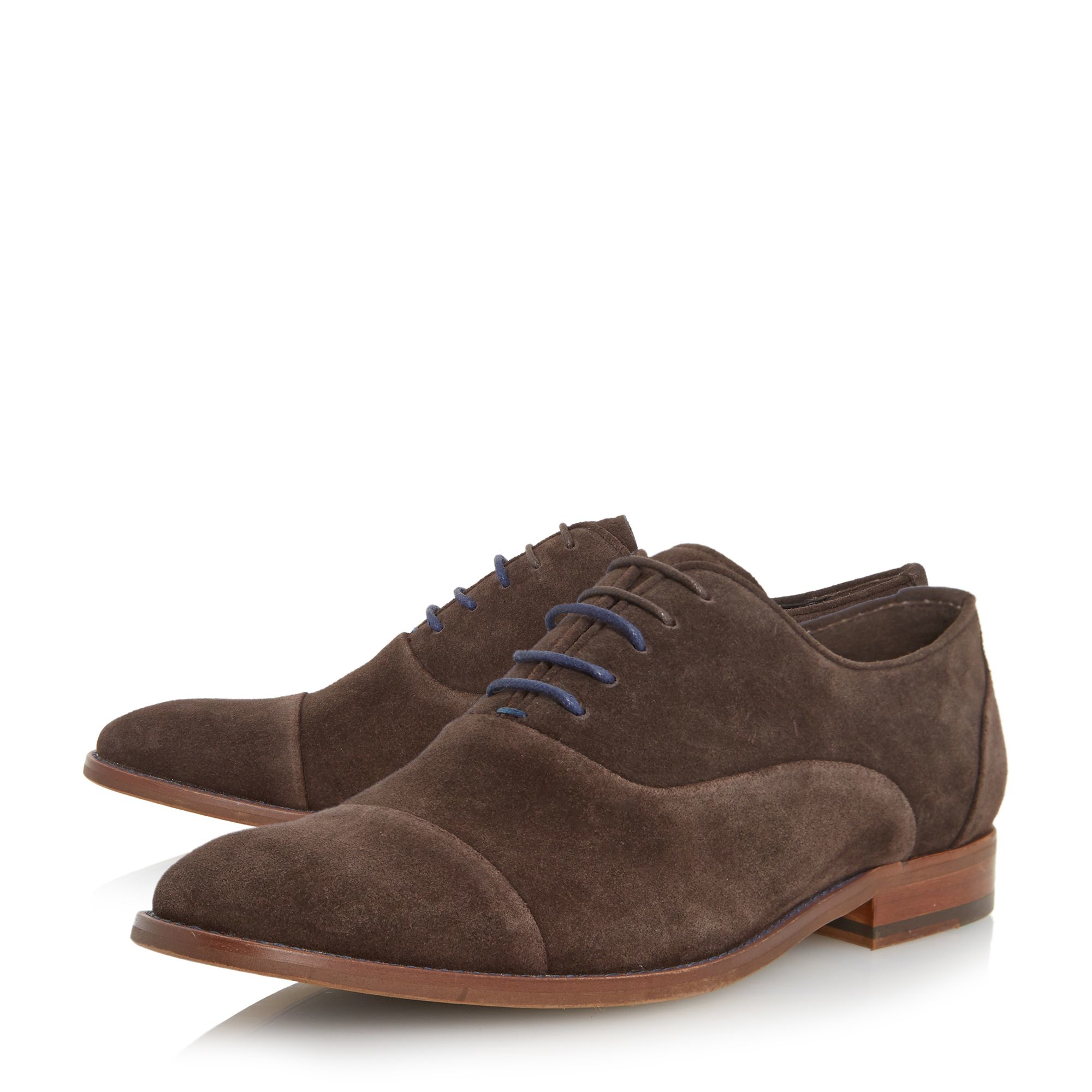 dune racketeer suede lace up oxford shoe in brown for
