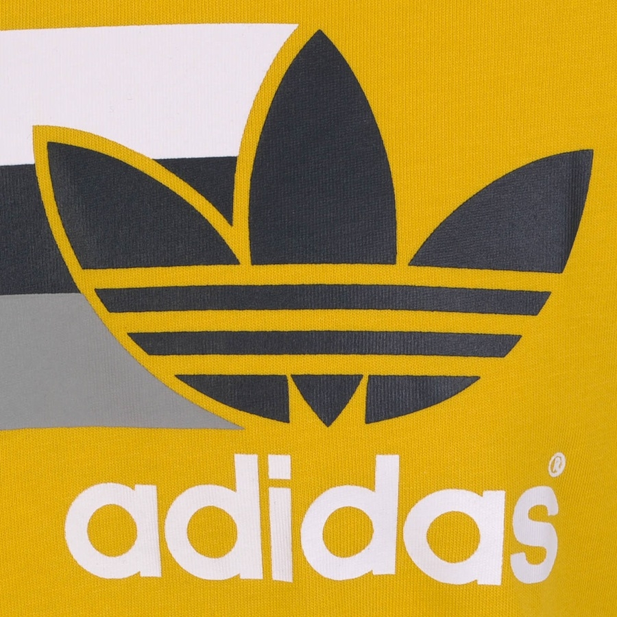 Lyst Adidas Originals Logo T Shirt Tri In Yellow For Men