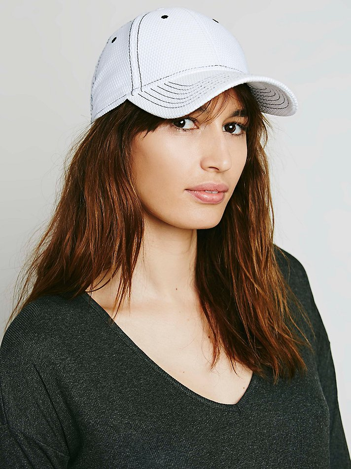 de37e27135 Free People Dorfman Pacific Womens Courtside Netted Baseball Cap in ...