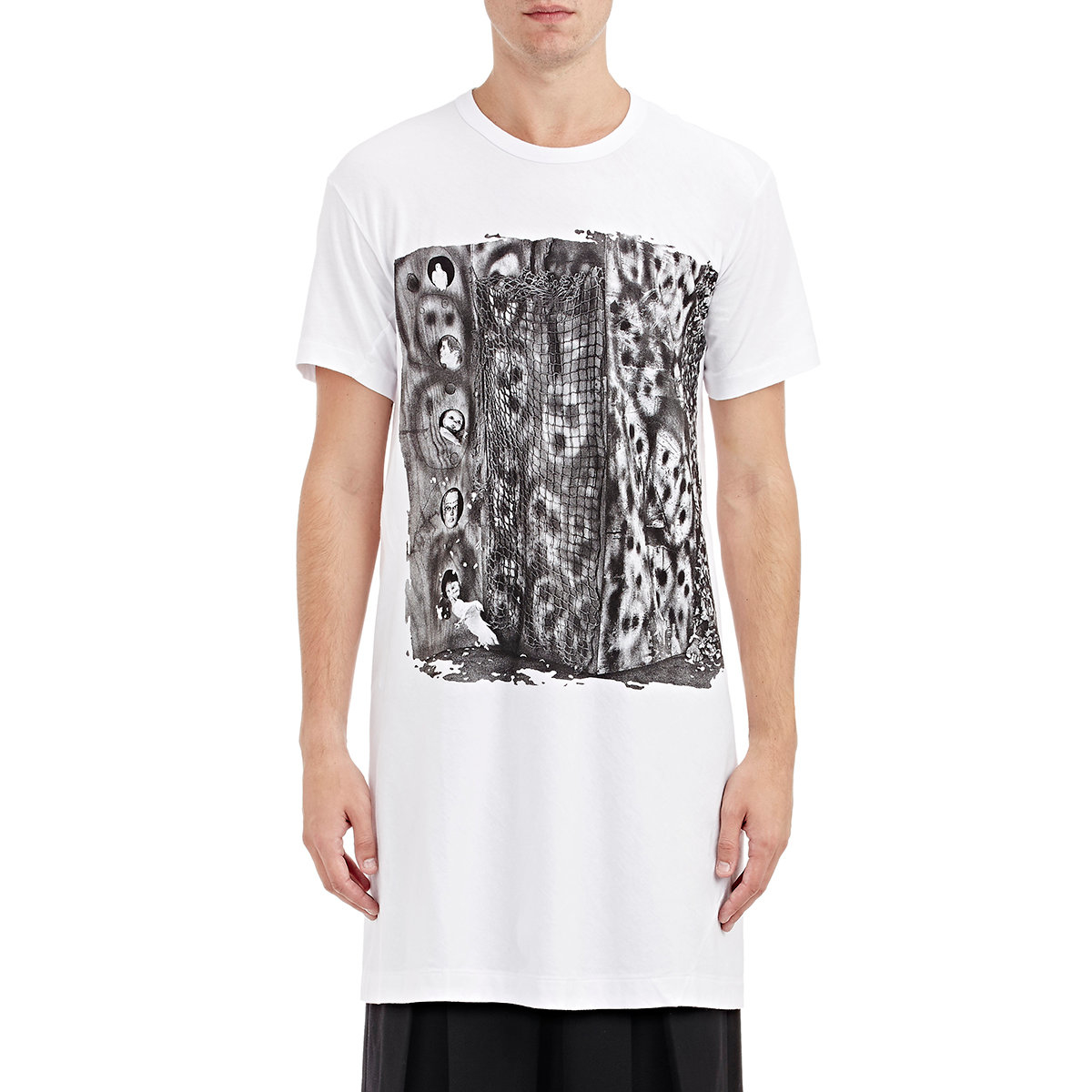 lyst comme des gar ons roger ballen t shirt in white for men. Black Bedroom Furniture Sets. Home Design Ideas