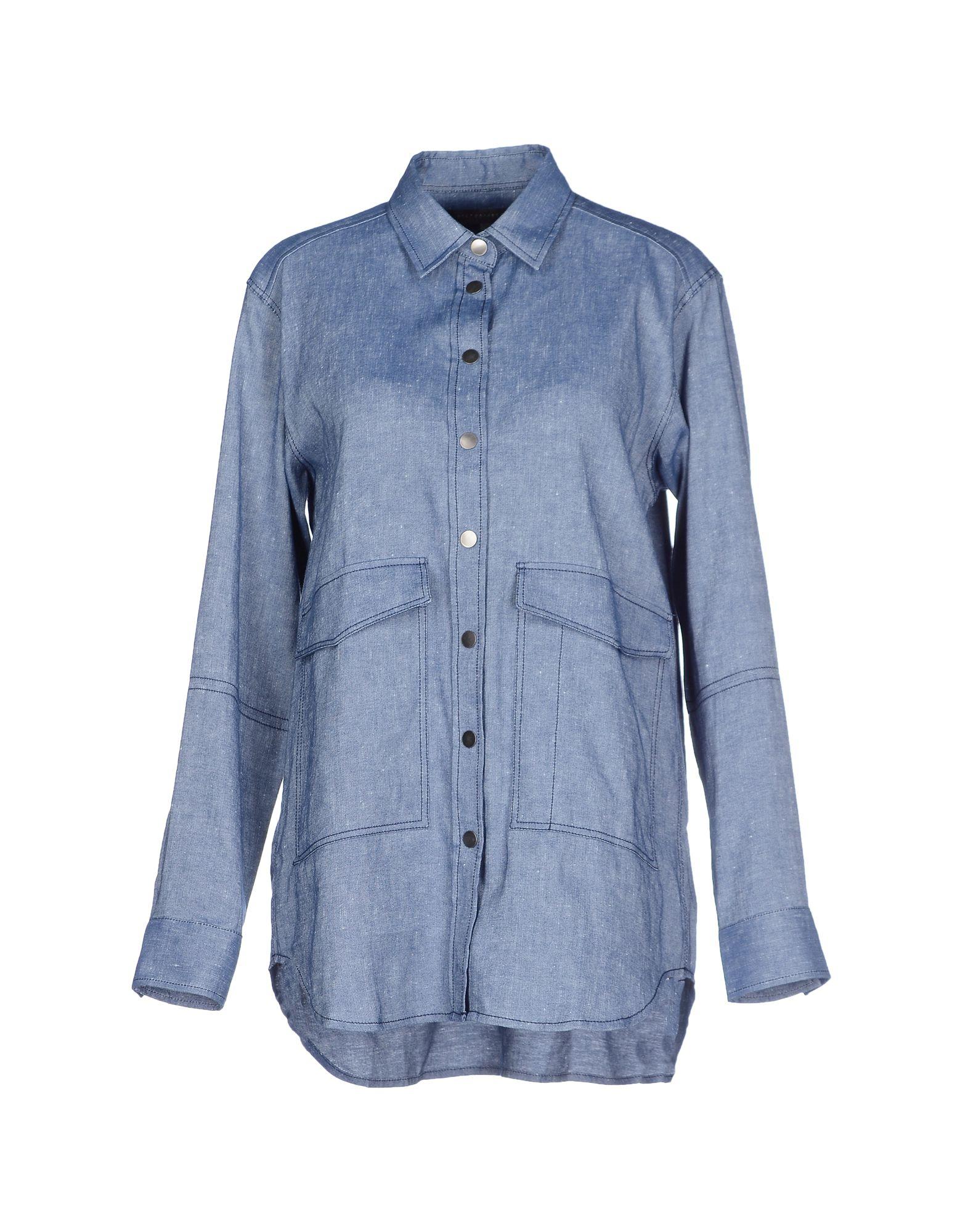 lyst victoria beckham denim shirt in blue