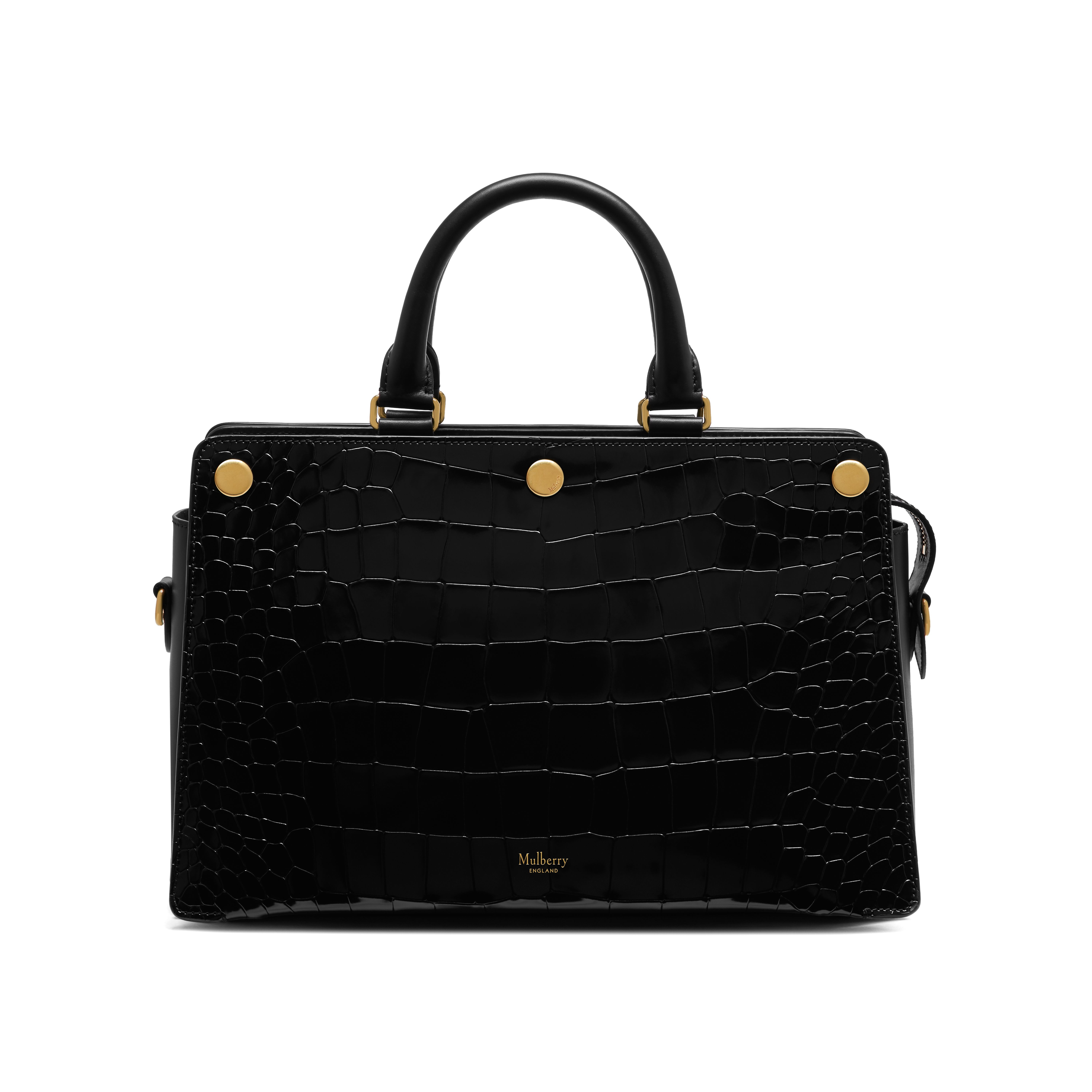 6ee71cfe70 ... bag for women in green lyst a40a2 fd2d9 sweden lyst mulberry chester  croc embossed leather satchel in black 12592 8b15b ...