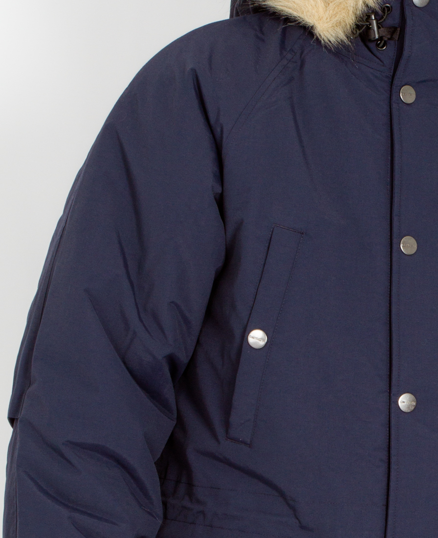 carhartt wip anchorage parka navy in blue for men lyst. Black Bedroom Furniture Sets. Home Design Ideas