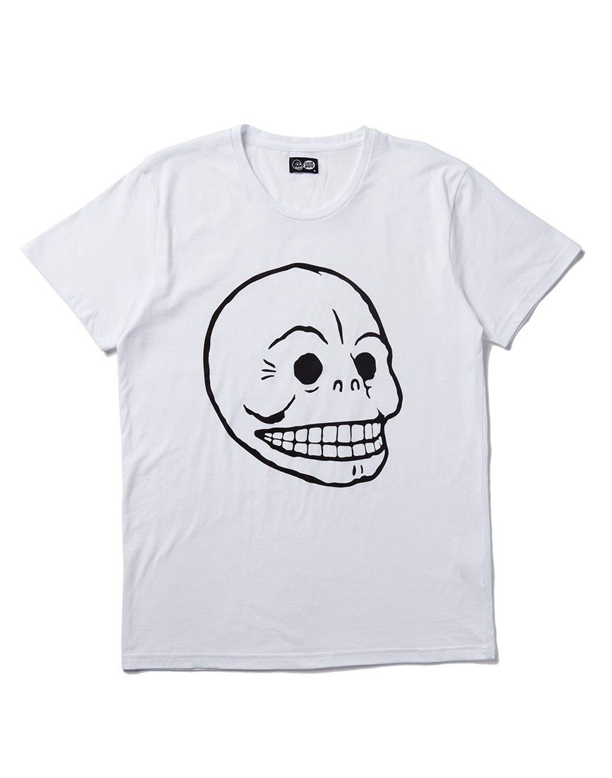 Lyst cheap monday t shirt with skull print in white for men for Print t shirt cheap