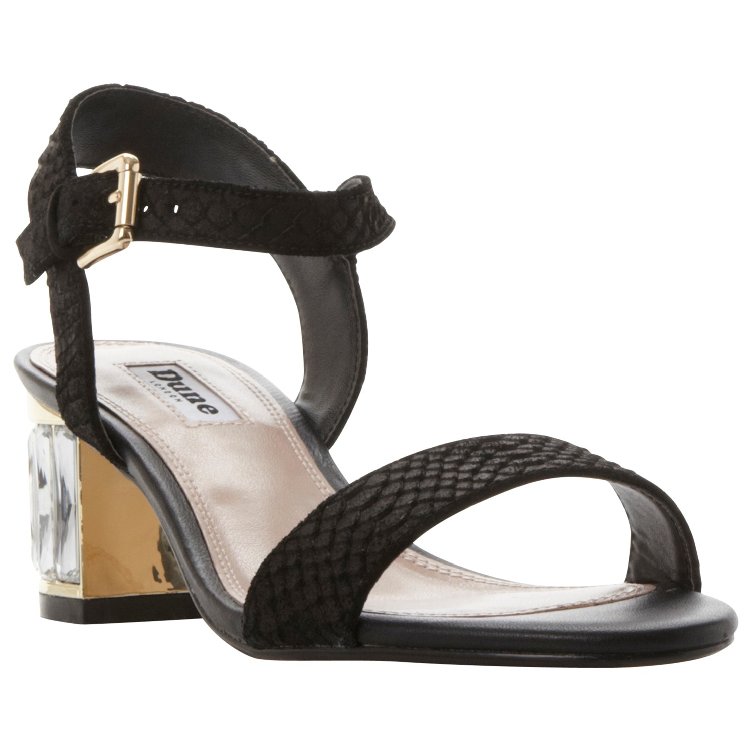 922d10e37 Dune Marcia Jewelled Block Heel Sandals in Black - Lyst