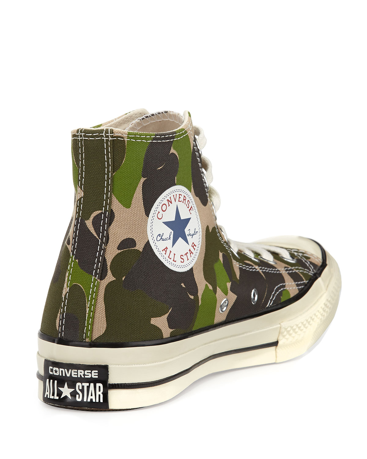 d37c86579b3a1e Lyst - Converse All Star Camo High-top Sneaker in Green for Men