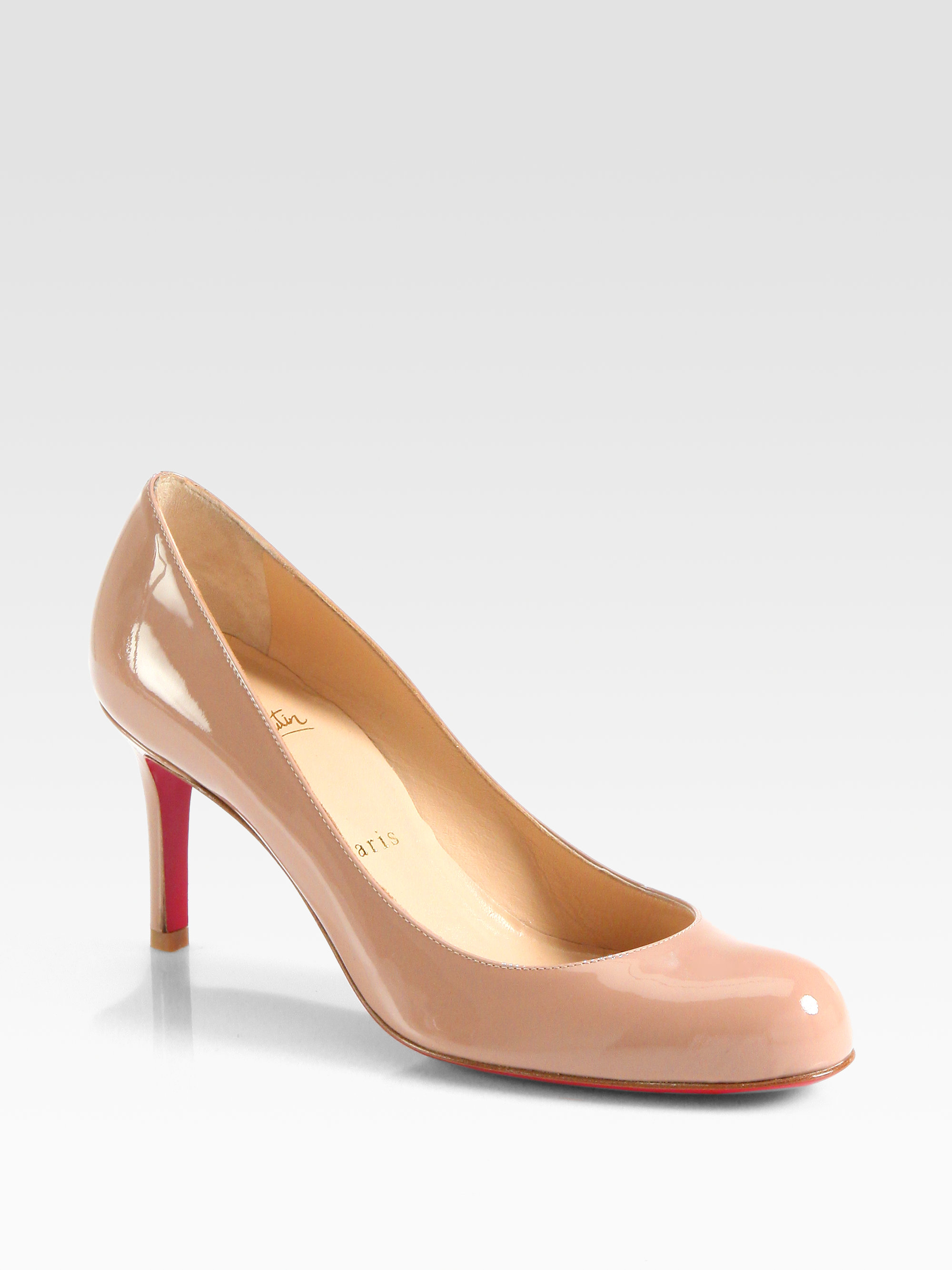 low priced 6cae7 e25a9 Lyst - Christian Louboutin Simple 70 Patent Leather Pumps in ...