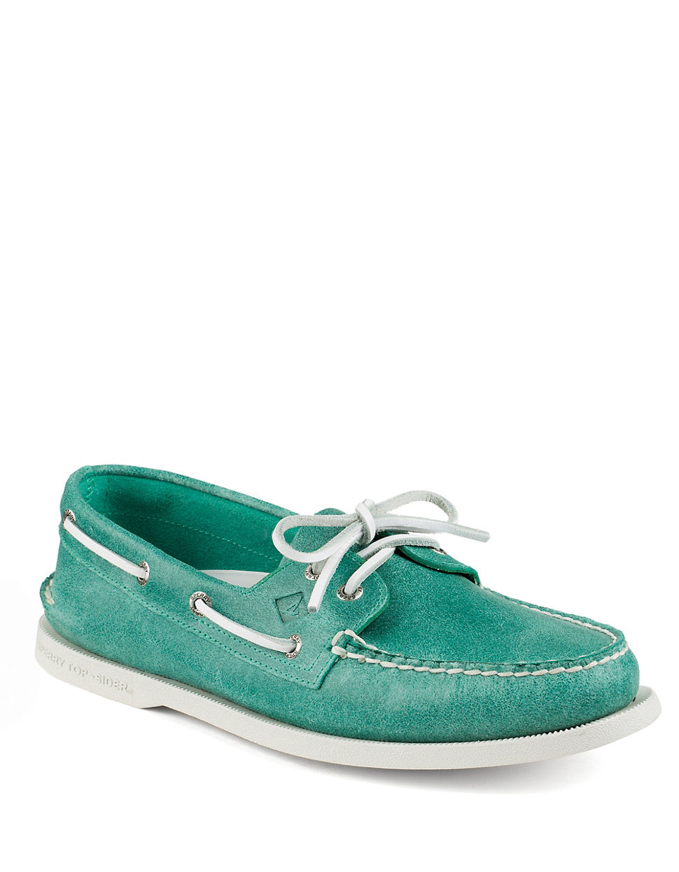 sperry top sider authentic original white cap boat shoe in