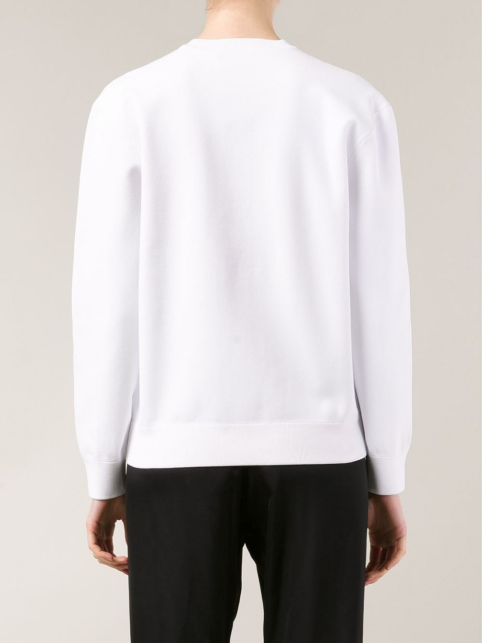Alexander wang logo barcode sweatshirt in white bleach for Can you bleach white shirts with logos