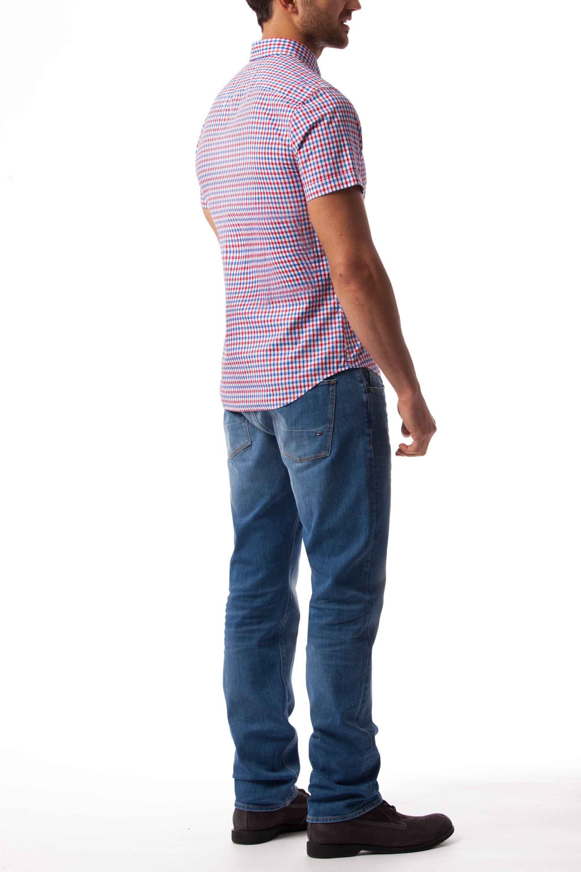 Lyst tommy hilfiger owen gingham check shirt for men for Tommy hilfiger gingham dress shirt