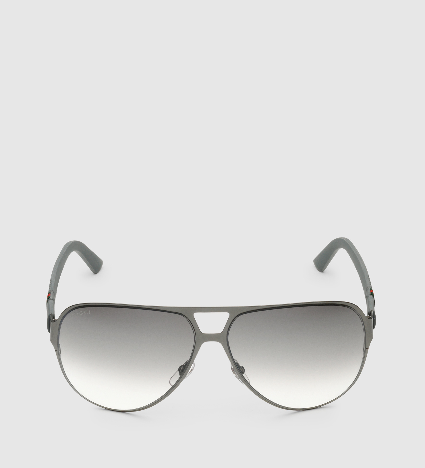 eb07ff089d2f Gucci Light Steel Aviator Sunglasses in Gray for Men - Lyst