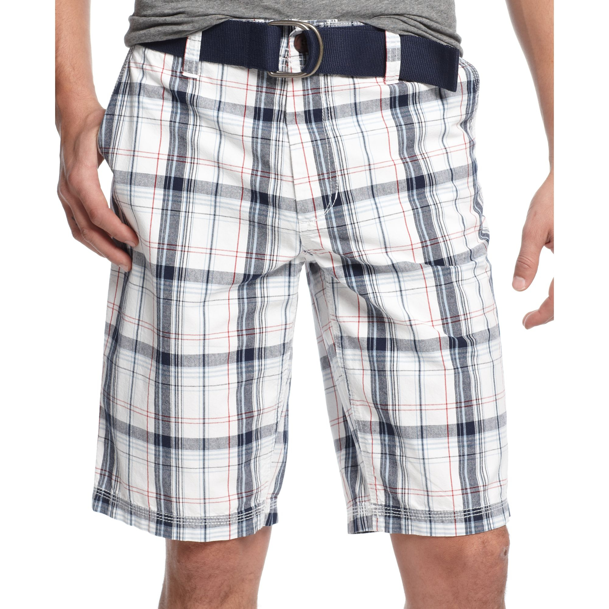 bf21fa0c4a American Rag Plaid Shorts in White for Men - Lyst