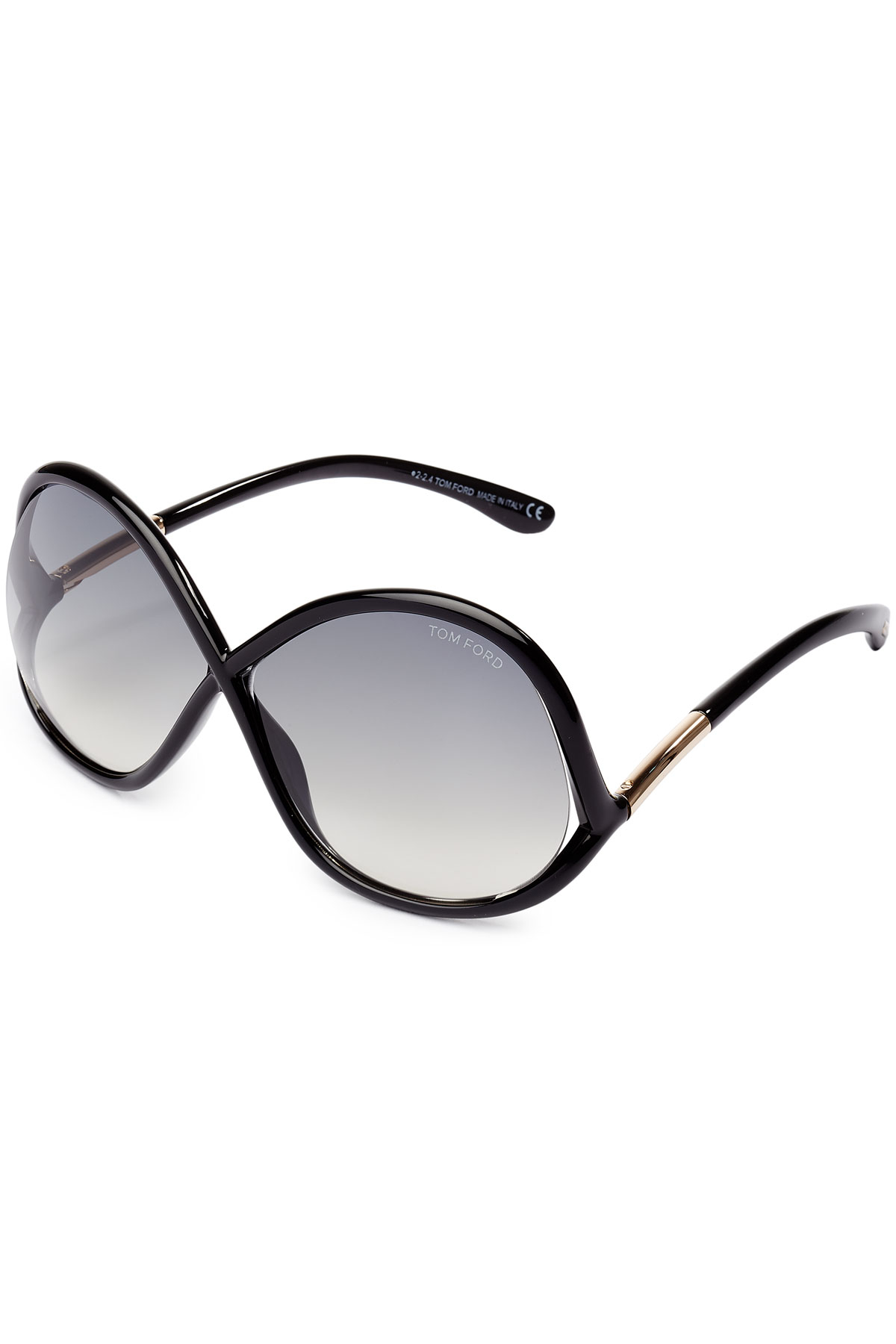 64479a3dc42 Tom Ford Oversized Wrap Sunglasses - Black in Black - Lyst
